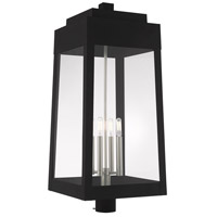 Livex 20862-04 Oslo 4 Light 31 inch Black Outdoor Post Top Lantern