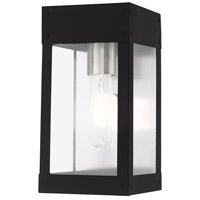 Livex 20871-04 Barrett 1 Light 10 inch Black Wall Lantern