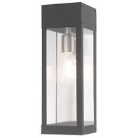 Livex 20873-76 Barrett 1 Light 15 inch Scandinavian Gray Outdoor Wall Lantern
