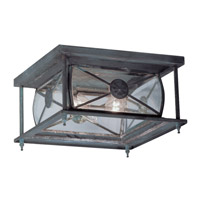 Livex Lighting Providence 2 Light Outdoor Ceiling Mount in Charcoal 2090-61