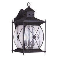 Livex Lighting Providence 3 Light Outdoor Wall Lantern in Bronze 2093-07