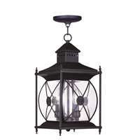 Livex Lighting Providence 2 Light Outdoor Hanging Lantern in Bronze 2095-07