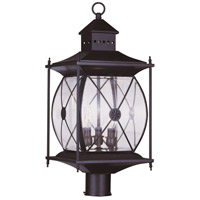 Livex Lighting Providence 3 Light Outdoor Post Head in Bronze 2096-07