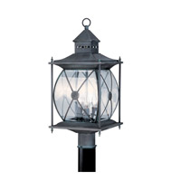 Livex Lighting Providence 3 Light Outdoor Post Head in Charcoal 2096-61