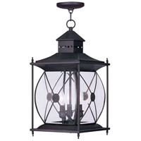 Livex Lighting Providence 3 Light Outdoor Hanging Lantern in Bronze 2097-07