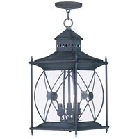 Livex Lighting Providence 3 Light Outdoor Hanging Lantern in Charcoal 2097-61