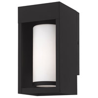 Livex 20981-04 Bleecker 1 Light 9 inch Black Wall Lantern