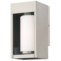 Livex 20981-91 Bleecker 1 Light 9 inch Brushed Nickel Wall Lantern