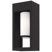 Livex 20982-04 Bleecker 1 Light 14 inch Black Wall Lantern