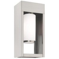 Livex 20982-91 Bleecker 1 Light 14 inch Brushed Nickel Wall Lantern photo thumbnail