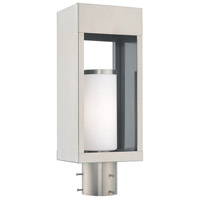 Livex Lighting 20984-91 Bleecker 1 Light 17 inch Brushed Nickel Outdoor Post Top Lantern