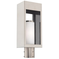 Livex 20984-91 Bleecker 1 Light 17 inch Brushed Nickel Post Top Lantern alternative photo thumbnail
