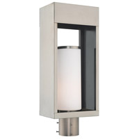 Livex Lighting 20985-91 Bleecker 1 Light 20 inch Brushed Nickel Outdoor Post Top Lantern