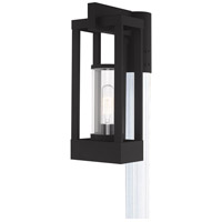 Livex 20994-04 Delancey 1 Light 15 inch Black Post Top Lantern