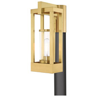 Livex 20994-12 Delancey 1 Light 15 inch Satin Brass Post Top Lantern