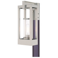 Livex 20994-91 Delancey 1 Light 15 inch Brushed Nickel Post Top Lantern