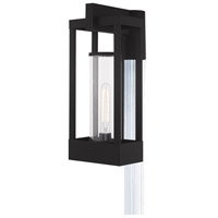 Livex 20996-04 Delancey 1 Light 19 inch Black Post Top Lantern