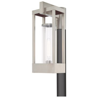 Livex Lighting 20996-91 Delancey 1 Light 19 inch Brushed Nickel Outdoor Post Top Lantern