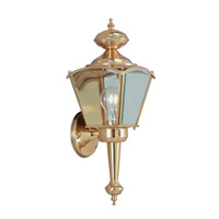 Livex Limited 1 Light Outdoor Wall Lantern in Polished Brass 2104-02
