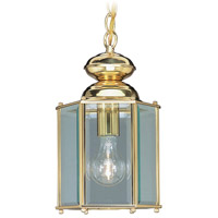 Livex 2116-02 Outdoor Basics 1 Light 7 inch Polished Brass Outdoor Hanging Lantern photo thumbnail