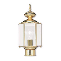 Livex Lighting Outdoor Basics 1 Light Outdoor Post Head in Polished Brass 2117-02