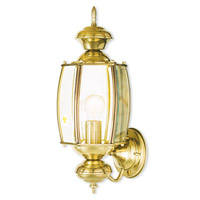 Limited 1 Light 17 inch Polished Brass Outdoor Wall Light