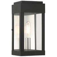 Livex 21231-04 York 1 Light 9 inch Black Outdoor ADA Wall Lantern