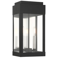 Livex 21235-04 York 2 Light 16 inch Black Outdoor Wall Lantern