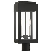Livex 21236-04 York 2 Light 20 inch Black Outdoor Post Top Lantern