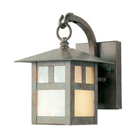 Montclair Mission 1 Light 9 inch Verde Patina Outdoor Wall Lantern