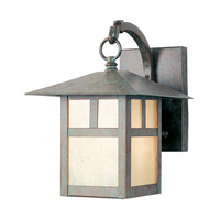 Montclair Mission 1 Light 11 inch Verde Patina Outdoor Wall Lantern