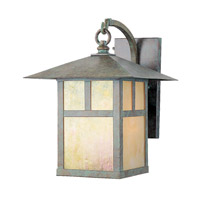 Montclair Mission 1 Light 14 inch Verde Patina Outdoor Wall Lantern