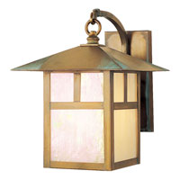 Livex Lighting Montclair Mission 1 Light Outdoor Wall Lantern in Vintage Brass 2133-93