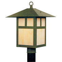Livex 2134-16 Montclair Mission 1 Light 15 inch Verde Patina Outdoor Post Head