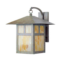 Livex 2137-16 Montclair Mission 1 Light 17 inch Verde Patina Outdoor Wall Lantern