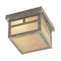 Livex Lighting Montclair Mission 2 Light Outdoor Ceiling Mount in Verde Patina 2139-16