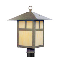 Livex Lighting Montclair Mission 1 Light Outdoor Post Head in Verde Patina 2140-16