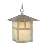 Livex Lighting Montclair Mission 1 Light Outdoor Hanging Lantern in Verde Patina 2142-16