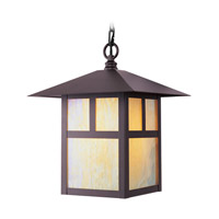 Livex 2141-07 Montclair Mission 1 Light 10 inch Bronze Outdoor Hanging Lantern