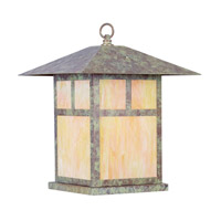 Livex Lighting Montclair Mission 1 Light Outdoor Column Mount in Verde Patina 2144-16