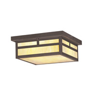 Livex Lighting Montclair Mission 3 Light Outdoor Ceiling Mount in Bronze 2146-07