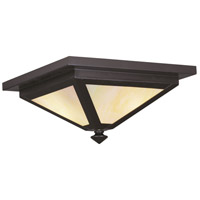 Montclair Mission 3 Light 15 inch Bronze Outdoor Ceiling Mount