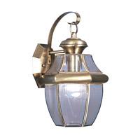 Livex 2151-01 Monterey 1 Light 13 inch Antique Brass Outdoor Wall Lantern
