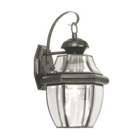 Livex 2151-04 Monterey 1 Light 13 inch Black Outdoor Wall Lantern