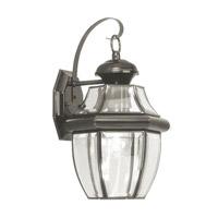 Livex Lighting Monterey 1 Light Outdoor Wall Lantern in Black 2151-04 photo thumbnail