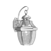 Livex Lighting Monterey 1 Light Outdoor Wall Lantern in Brushed Nickel 2151-91