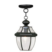 Livex Lighting Monterey 1 Light Outdoor Hanging Lantern in Black 2152-04