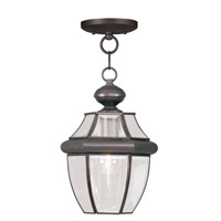 Livex 2152-07 Monterey 1 Light 9 inch Bronze Outdoor Hanging Lantern