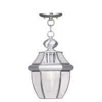 Livex Lighting Monterey 1 Light Outdoor Hanging Lantern in Brushed Nickel 2152-91