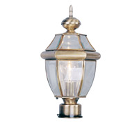 Livex 2153-01 Monterey 1 Light 16 inch Antique Brass Outdoor Post Head